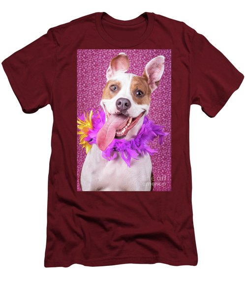 Hapy Dog Men's T-Shirt (Slim Fit) by Stephanie Hayes