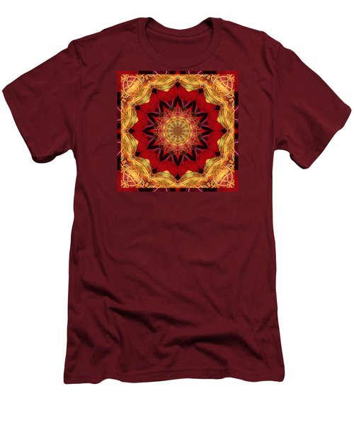 Men's T-Shirt (Slim Fit) featuring the photograph Healing Mandala 28 by Bell And Todd