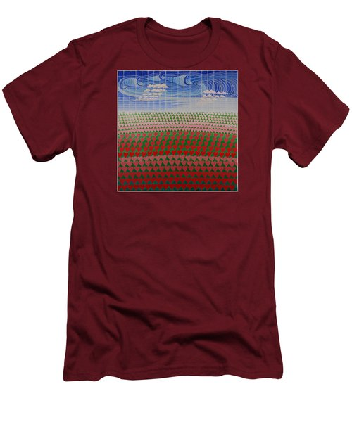 Heart Fields Men's T-Shirt (Athletic Fit)