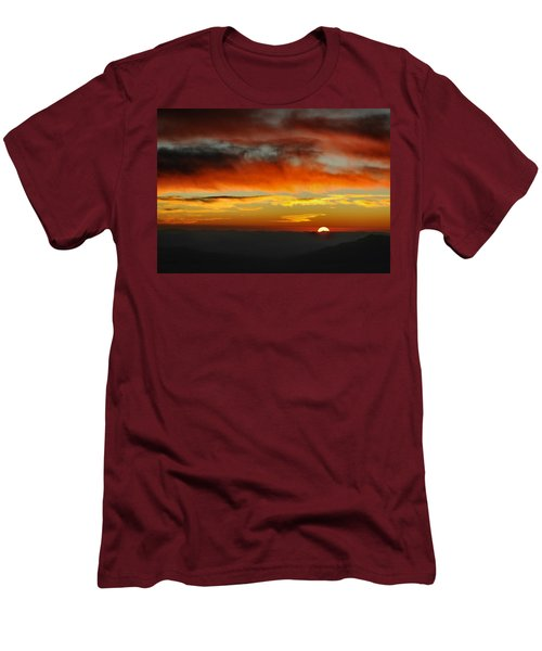 Men's T-Shirt (Slim Fit) featuring the photograph High Altitude Fiery Sunset by Joe Bonita
