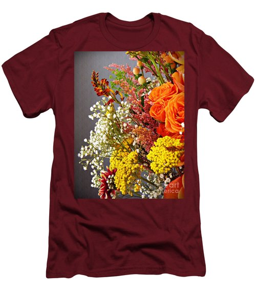 Men's T-Shirt (Slim Fit) featuring the photograph Holy Week Flowers 2017 2 by Sarah Loft