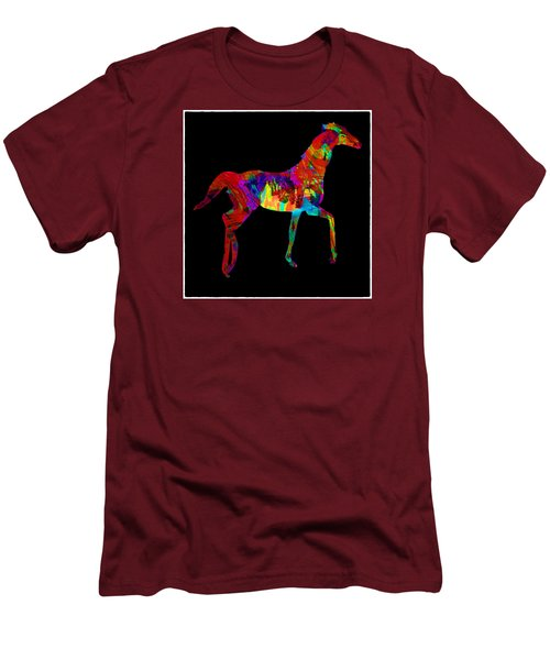 Horse Men's T-Shirt (Slim Fit) by James Bethanis