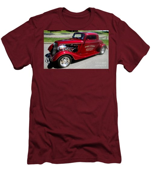 Hot Rod Chief Men's T-Shirt (Slim Fit) by Kevin Fortier