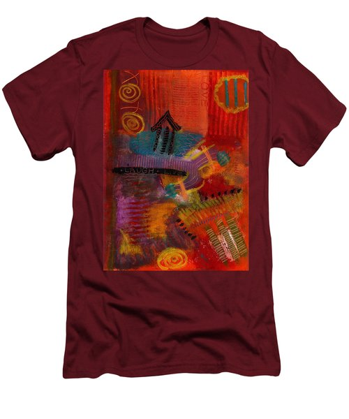 House Of Laughter Men's T-Shirt (Slim Fit) by Angela L Walker