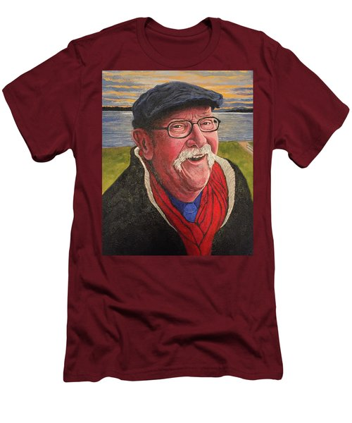 Men's T-Shirt (Athletic Fit) featuring the painting Hugh Hanson Davidson by Tom Roderick