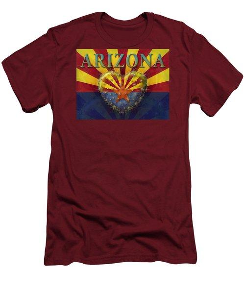 I Love Arizona Flag Men's T-Shirt (Athletic Fit)