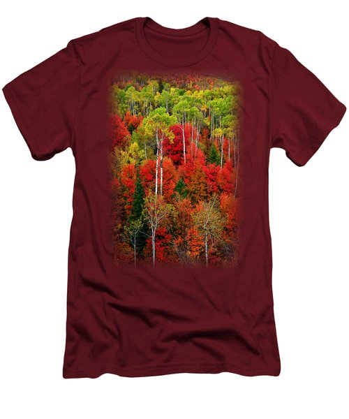 Idaho Autumn T-shirt Men's T-Shirt (Slim Fit) by Greg Norrell