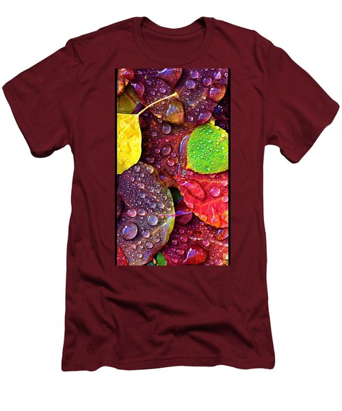Illuminous Colour Men's T-Shirt (Slim Fit) by Sheila Mcdonald