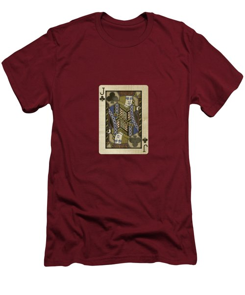 Jack Of Clubs In Wood Men's T-Shirt (Athletic Fit)