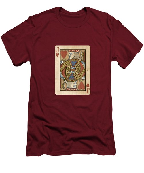 Jack Of Hearts In Wood Men's T-Shirt (Athletic Fit)