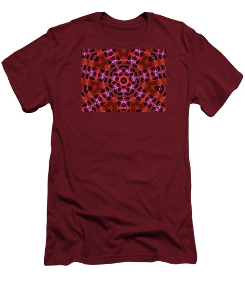 Kaleidoscope With Seven Petals Men's T-Shirt (Slim Fit) by Ernst Dittmar