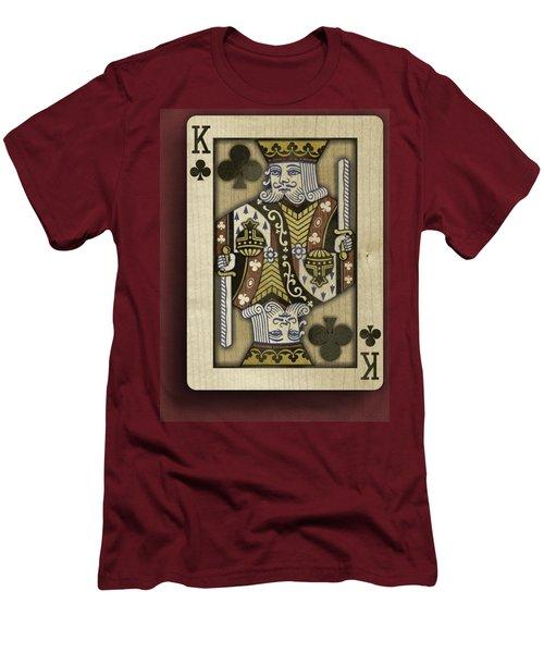 King Of Clubs In Wood Men's T-Shirt (Athletic Fit)
