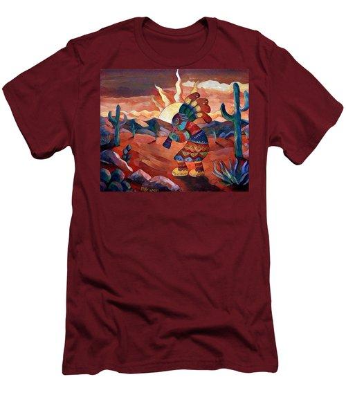 Kokopelli A Men's T-Shirt (Slim Fit) by Megan Walsh