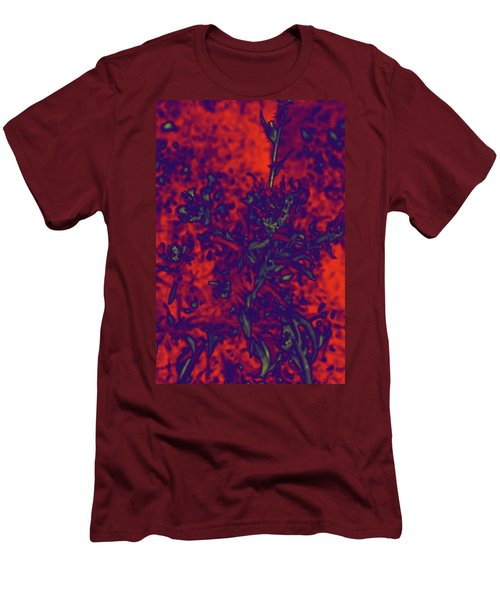 Men's T-Shirt (Slim Fit) featuring the digital art Krazy Kosmic Katchina I by Carolina Liechtenstein