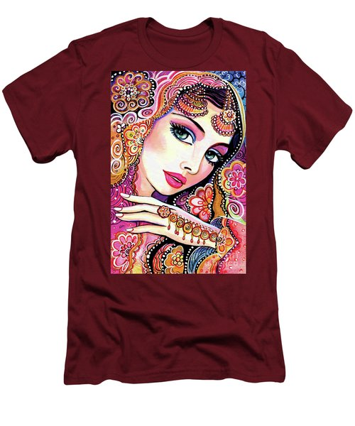 Men's T-Shirt (Slim Fit) featuring the painting Kumari by Eva Campbell