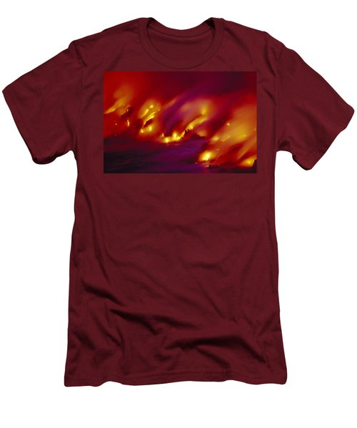 Lava Up Close Men's T-Shirt (Slim Fit) by Ron Dahlquist - Printscapes