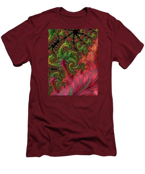 Men's T-Shirt (Slim Fit) featuring the photograph Leaf And Lace by Ronda Broatch