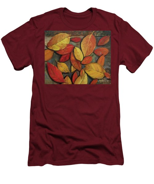 Leaf Collection Men's T-Shirt (Slim Fit) by Mary Hubley