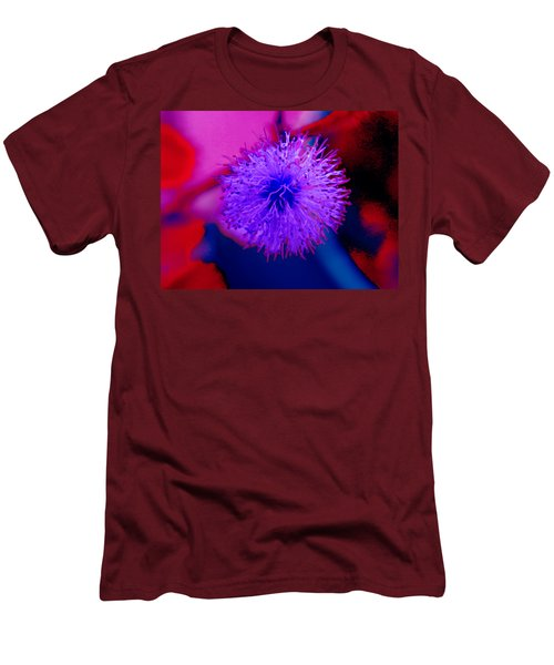 Light Purple Puff Explosion Men's T-Shirt (Slim Fit) by Samantha Thome