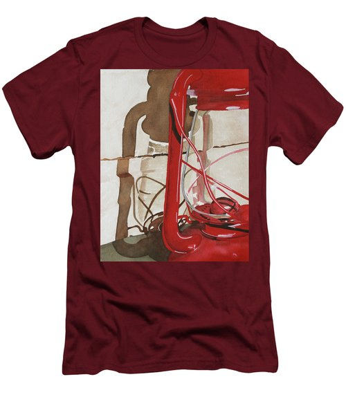 Men's T-Shirt (Slim Fit) featuring the painting Light The Way by Cynthia Powell