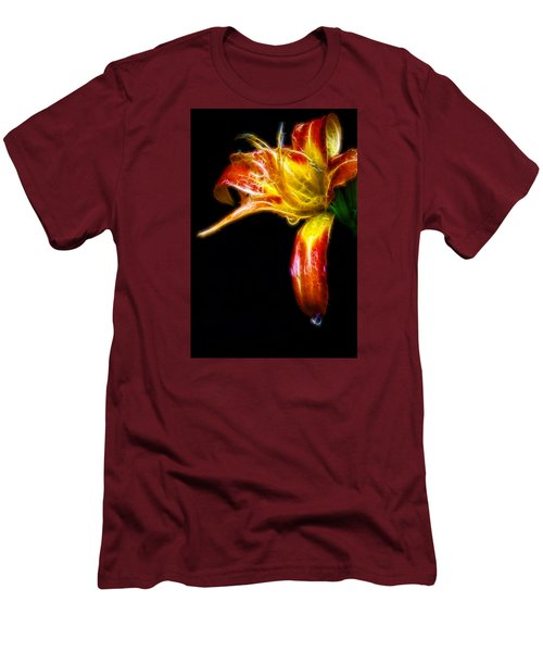 Liquid Lily Men's T-Shirt (Slim Fit) by Cameron Wood