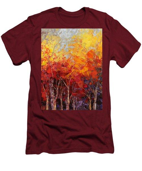 Listening To Leaves Men's T-Shirt (Slim Fit) by Tatiana Iliina