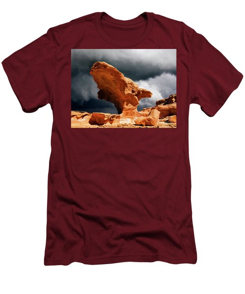 Men's T-Shirt (Slim Fit) featuring the photograph Little Finland Nevada 8 by Bob Christopher