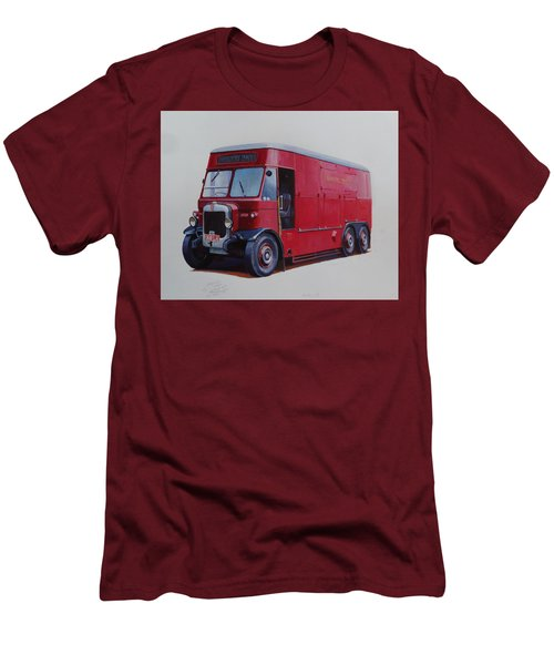 Men's T-Shirt (Slim Fit) featuring the painting London Transport Wrecker. by Mike Jeffries