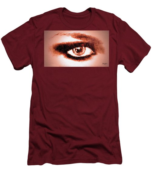 Look Into My Eye Men's T-Shirt (Slim Fit) by Paula Ayers