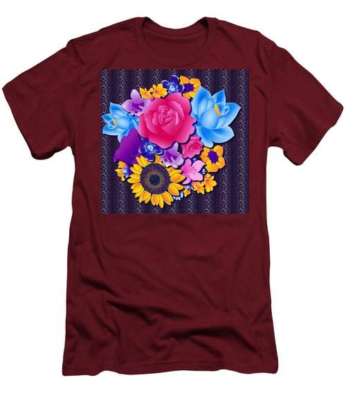 Lovely Bouquet Men's T-Shirt (Slim Fit) by Samantha Thome