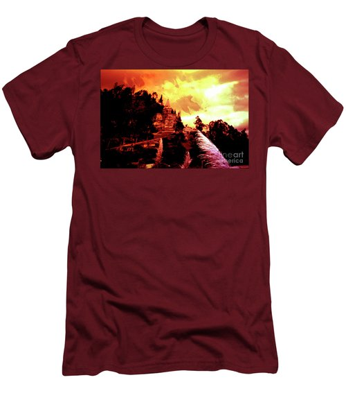 Men's T-Shirt (Slim Fit) featuring the photograph Magnificent Church Of Biblian IIi by Al Bourassa