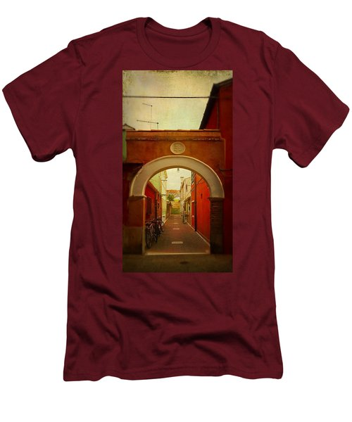 Men's T-Shirt (Slim Fit) featuring the photograph Malamocco Arch No1 by Anne Kotan