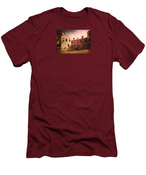Men's T-Shirt (Slim Fit) featuring the photograph Malamocco Corner No2 by Anne Kotan