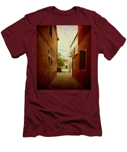 Men's T-Shirt (Slim Fit) featuring the photograph Malamocco Perspective No2 by Anne Kotan