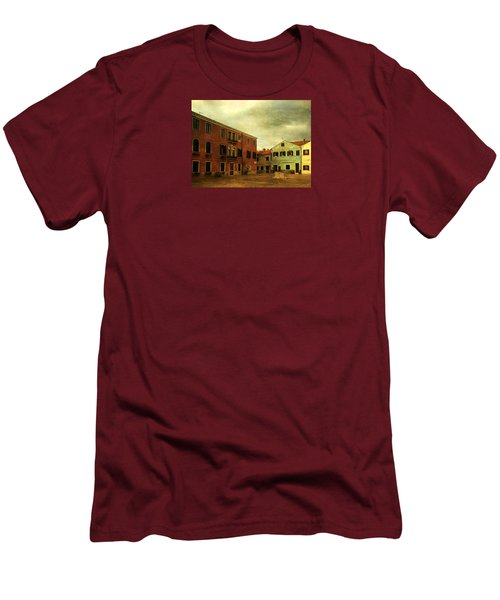 Men's T-Shirt (Slim Fit) featuring the photograph Malamocco Piazza No1 by Anne Kotan