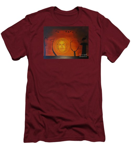 Men's T-Shirt (Slim Fit) featuring the painting Marco Borsato by Jeepee Aero