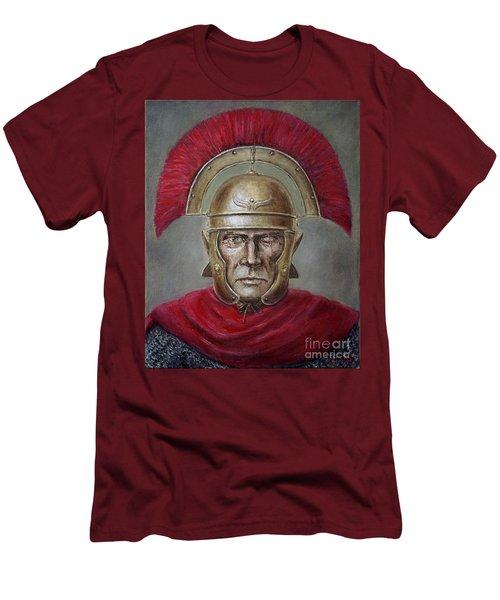 Marcus Cassius Scaeva Men's T-Shirt (Slim Fit) by Arturas Slapsys