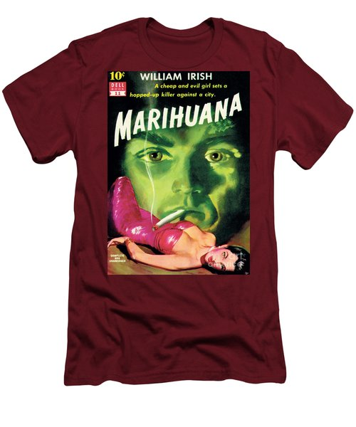 Men's T-Shirt (Slim Fit) featuring the painting Marihuana by Bill Fleming