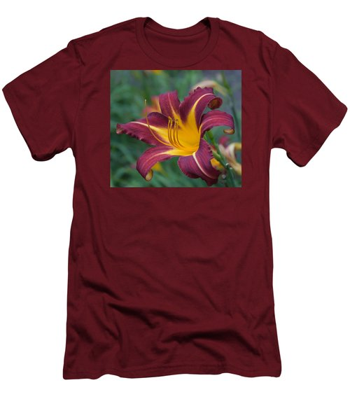 Maroon And Gold Men's T-Shirt (Athletic Fit)