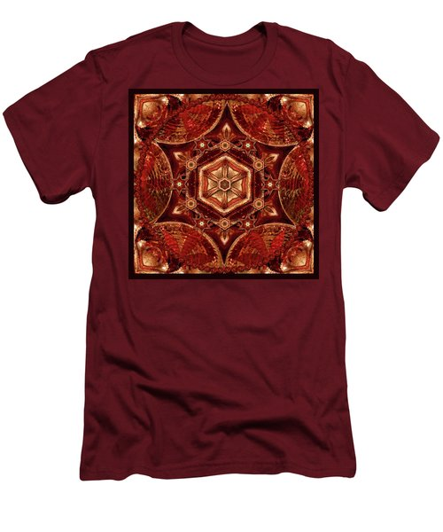Men's T-Shirt (Slim Fit) featuring the digital art Meditation In Copper by Deborah Smith