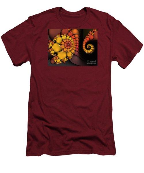 Men's T-Shirt (Slim Fit) featuring the digital art Meeting by Karin Kuhlmann