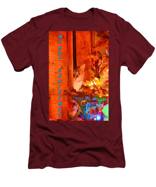Merry Christmas Waiting For Santa Men's T-Shirt (Athletic Fit)