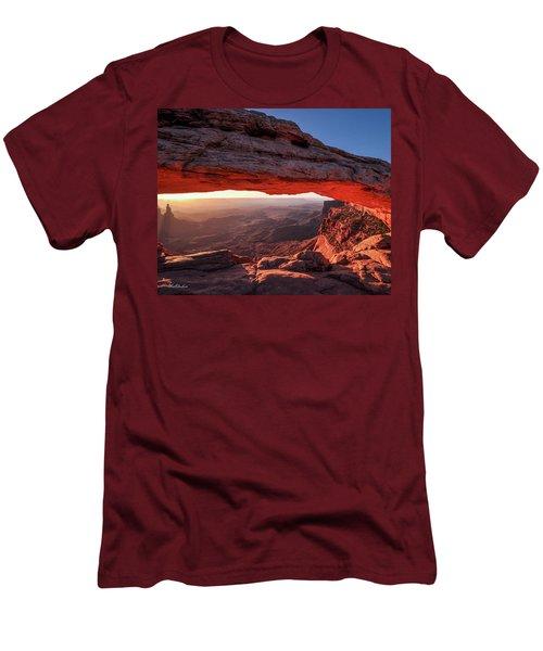 Mesa Arch At Sunrise 2, Canyonlands National Park, Utah Men's T-Shirt (Athletic Fit)