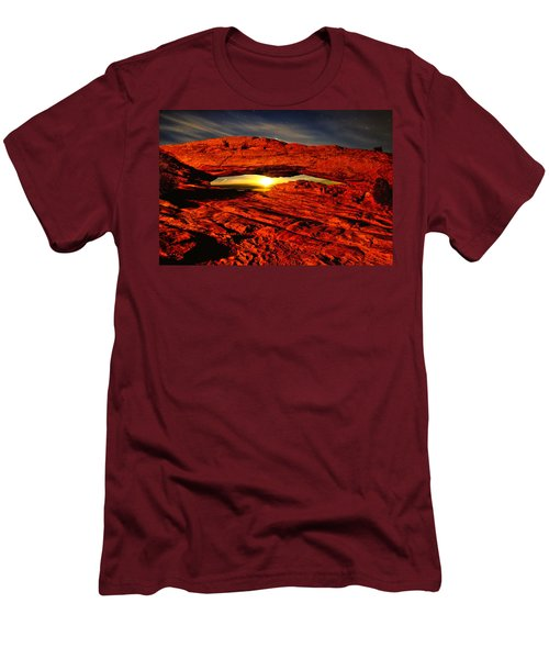 Mesa Arch Moonshine Men's T-Shirt (Slim Fit) by Greg Norrell
