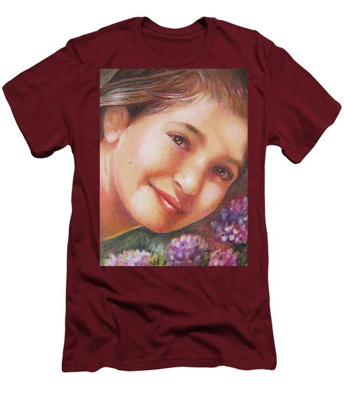 Mona Lisa's Smile Men's T-Shirt (Athletic Fit)