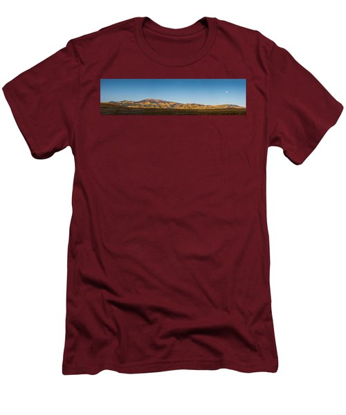 Moon Over Pintada Mountain At Sunrise In The San Juan Mountains, Men's T-Shirt (Slim Fit) by John Brink