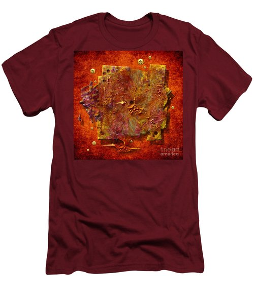 Men's T-Shirt (Slim Fit) featuring the painting Mortar Disc by Alexa Szlavics