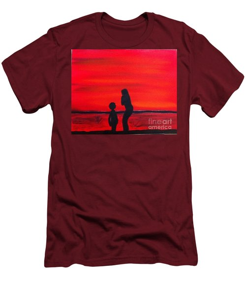 Mother And Child Men's T-Shirt (Slim Fit) by Rod Jellison