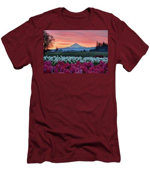 Mount Hood Sunrise Men's T-Shirt (Athletic Fit)