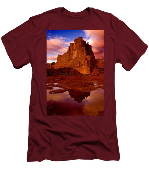 Men's T-Shirt (Slim Fit) featuring the photograph Mountain Sunrise Reflection by Harry Spitz